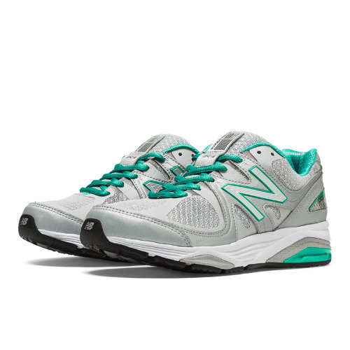 New Balance 1540v2 Women's Everyday Running Shoes - Silver, Mint Green (W1540SG2)