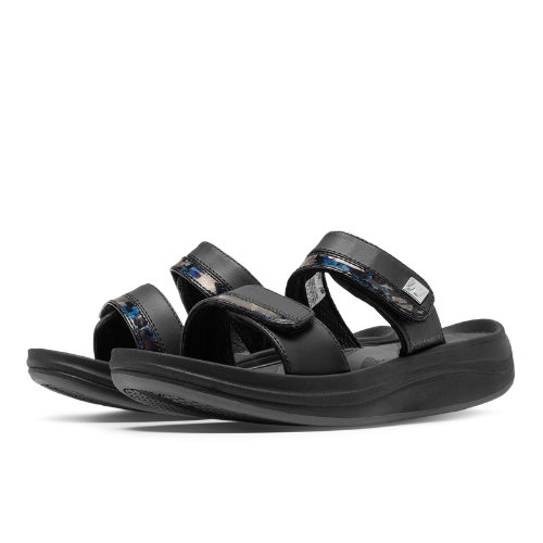 New Balance Revive 2-Strap Sandal Women's Slides - Black (W2028BLK)