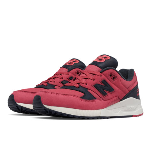 New Balance 530 Canvas Waxed Women's Running Classics Shoes - Pink / Grey (W530ASB)