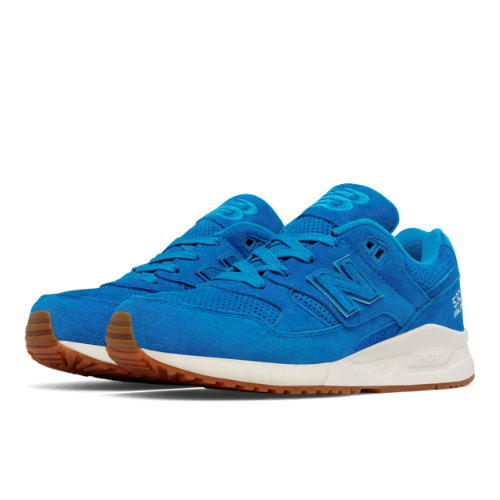 New Balance 530 Lux Suede Women's Running Classics Shoes - Blue (W530PRB)