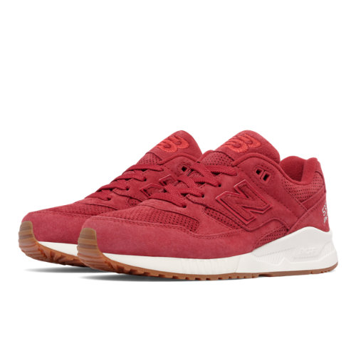New Balance 530 Lux Suede Women's Running Classics Shoes - Red (W530PRC)