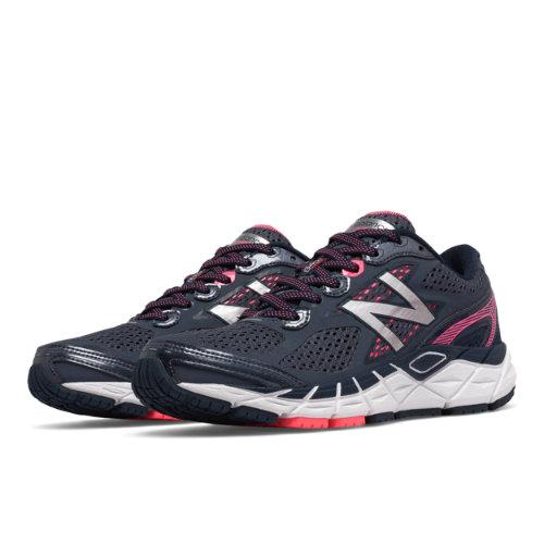 New Balance 840v3 Women's Distance Shoes - Grey / Navy (W840GB3)