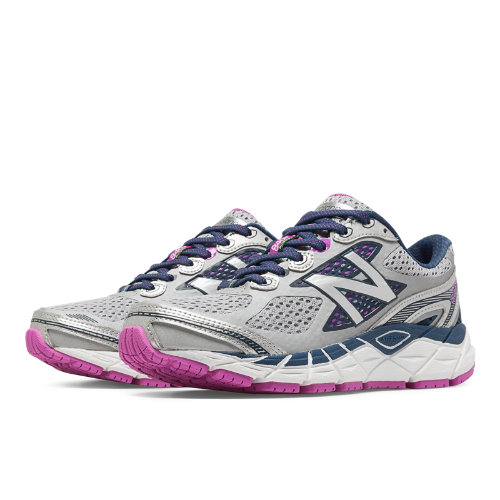New Balance 840v3 Women's Running Recommender Styles Shoes - Light Grey, Blue Sapphire, Magenta (W840WP3)