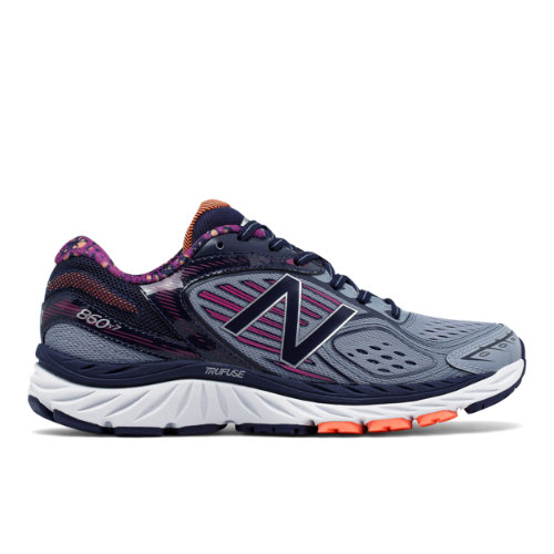 New Balance 860v7 Women's Distance Shoes - Blue / Pink / Navy (W860PG7)