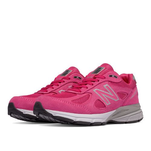 New Balance Pink Ribbon 990v4 Made in USA Women's Running Shoes - Pink (W990KM4)