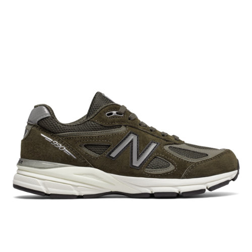 New Balance 990v4 Made in USA Women's Shoes - Military Green (W990MG4)