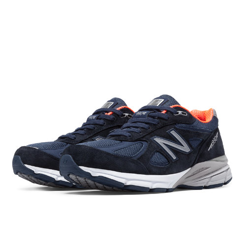 New Balance 990v4 Women's Shoes - Navy, Pink (W990NV4)