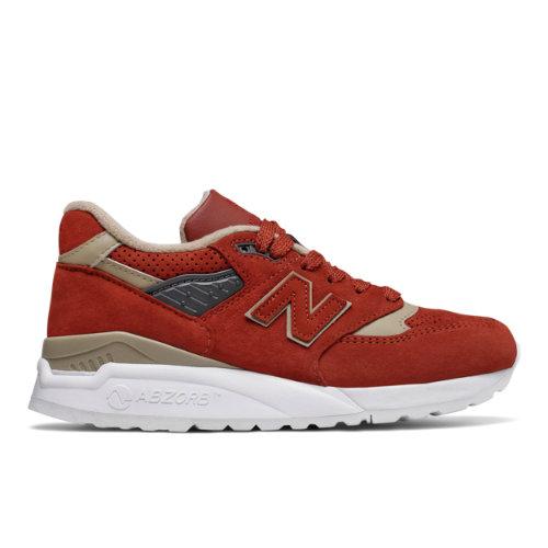 New Balance 998 Made in US Women's Made in USA Shoes - Orange / Tan (W998WA)