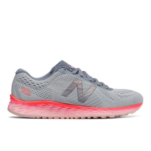 New Balance Fresh Foam Arishi Women's Soft and Cushioned Running Shoes - Grey / Vivid Coral (WARISCA1)