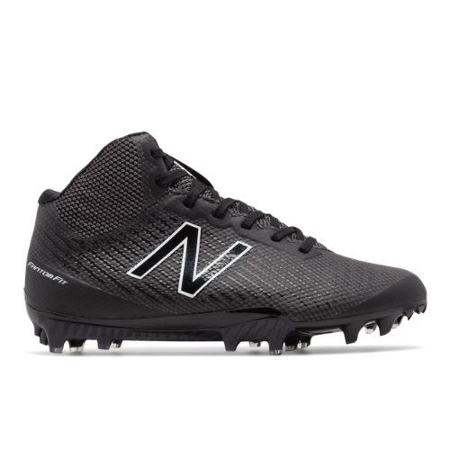 New Balance Burn X Mid-Cut Cleat Women's Lacrosse Shoes - Black / White (WBURNXMB)