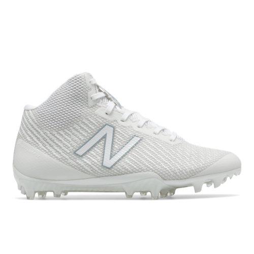 New Balance Burn X Mid-Cut Cleat Women's Lacrosse Shoes - White (WBURNXMW)
