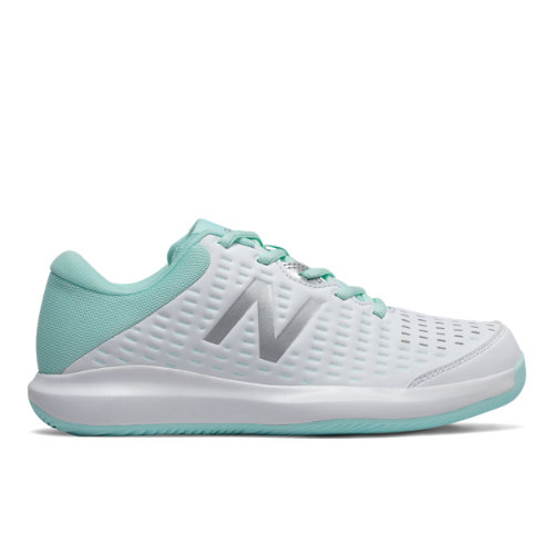 New Balance 696v4 Women's Tennis Shoes - White / Blue (WCH696B4)