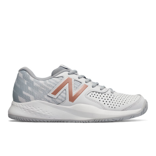 New Balance Leather 696v3 Women's Tennis Shoes - White (WCH696G3)