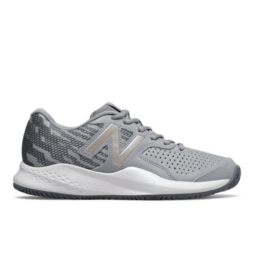 New Balance 696v3 Women's Tennis Shoes - Grey (WCH696U3)