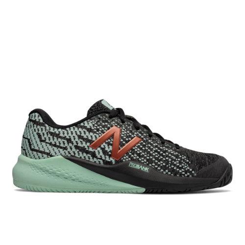 New Balance 996v3 Women's Tennis Shoes - Black / Sea Green (WCH996M3)