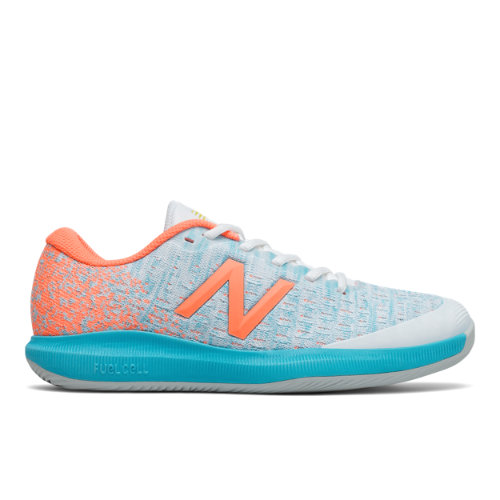 New Balance FuelCell 996v4 Women's Tennis Shoes - White / Orange (WCH996P4)