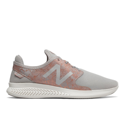 New Balance FuelCore Coast v3 Women's Speed Shoes - Grey / Gold / Off White (WCOASLO3)