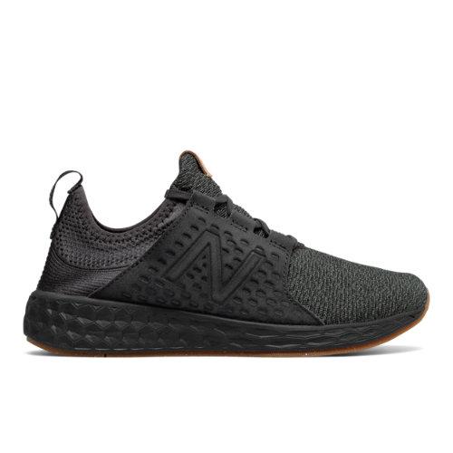New Balance Fresh Foam Cruz Women's Soft and Cushioned Running Shoes - Black / Grey (WCRUZOP)