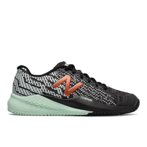 New Balance 996v3 Women's Tennis Shoes - Black with Seafoam (WCY996S3)