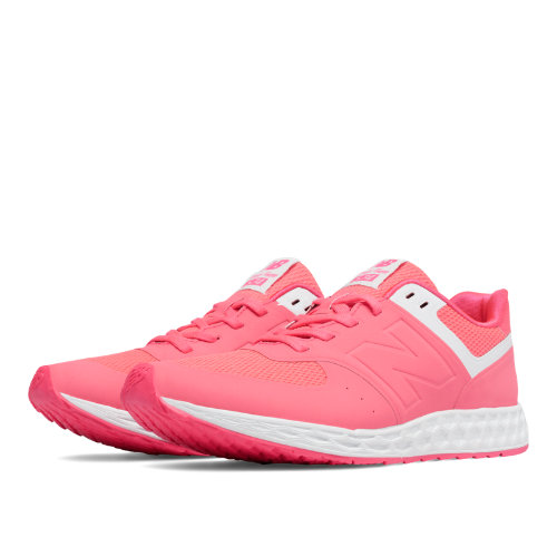 New Balance 574 Fresh Foam Women's Shoes - Bright Cherry / White (WFL574BC)