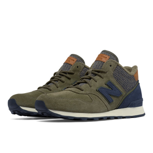 New Balance 696 Mid-Cut Women's Outdoor Classics Shoes - Green / Grey (WH696LCB)