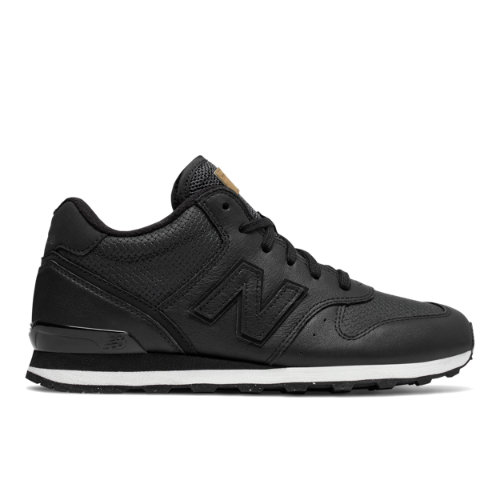 New Balance Mid-Cut 696 Women's Running Classics Shoes - Black / Off White (WH696PKQ)