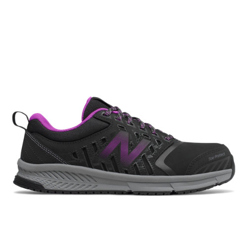 New Balance 412 Alloy Toe Women's Work Shoes - Black / Purple (WID412P1)
