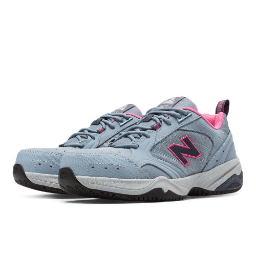 New Balance Steel Toe 627 Suede Women's Work Shoes - Grey, Azalea (WID627GP)
