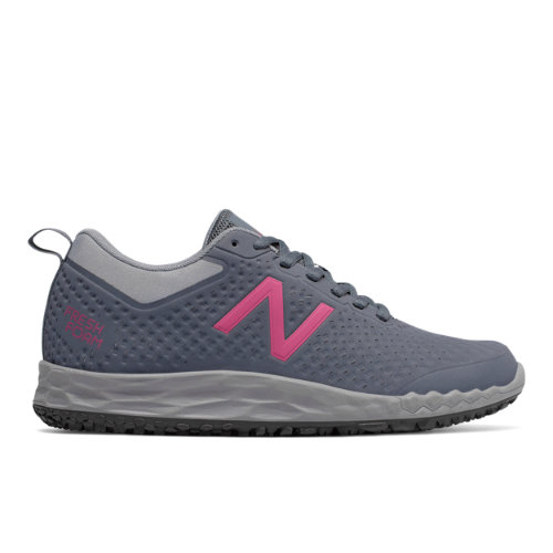 New Balance Slip Resistant Fresh Foam 806 Women's Work Shoes - Grey / Pink (WID806G1)