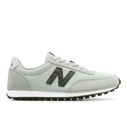 New Balance 410 70s Running Suede Women's Running Classics Sneakers Shoes - Silver / Black (WL410BU)
