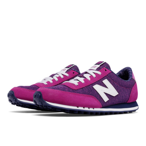 New Balance 410 Optic Pop Women's Running Classics Shoes - Pink / Navy (WL410OPB)
