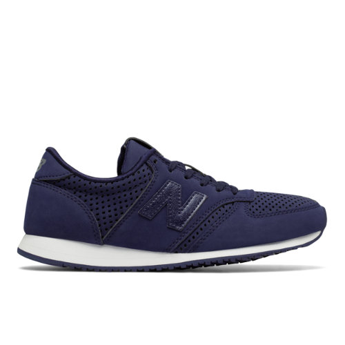New Balance 420 Women's Running Classics Sneakers Shoes - Navy / Silver (WL420CRZ)