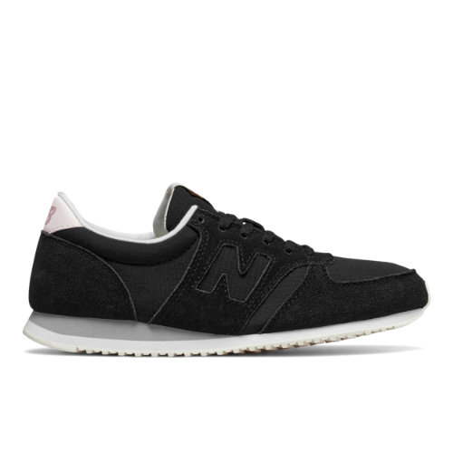 New Balance 420 Women's Running Classics Sneakers Shoes - Black / Off White (WL420MBC)