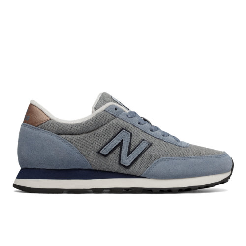 New Balance 501 Women's Running Classics Sneakers Shoes - Grey / Navy / Blue (WL501DCX)
