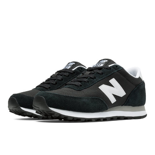 New Balance 501 Women's Running Classics Shoes - Black, White (WL501KW)