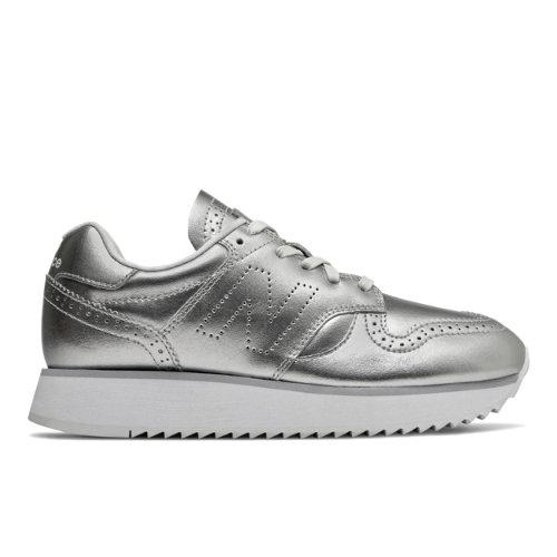 New Balance 520 Platform Women's Running Classics Shoes - Metallic Silver (WL520ME)