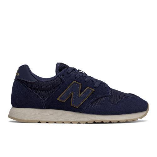 New Balance 520 Women's Running Classics Shoes - Navy / Gold (WL520MG)