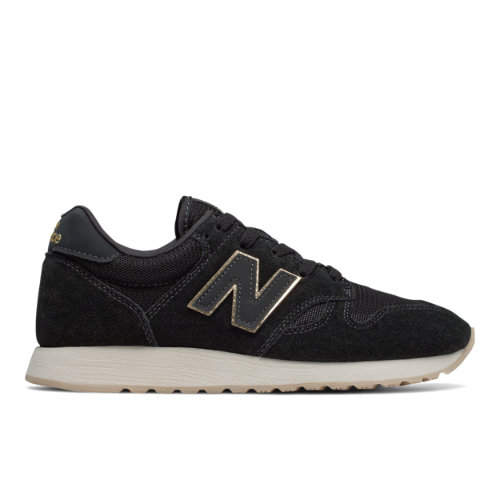 New Balance 520 Women's Running Classics Shoes - Black / Gold (WL520MR)