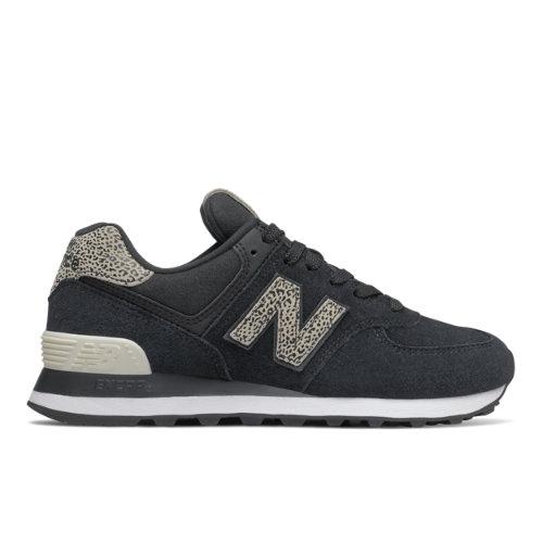 New Balance 574 Women's Running Classics Shoes - Black (WL574ANC)