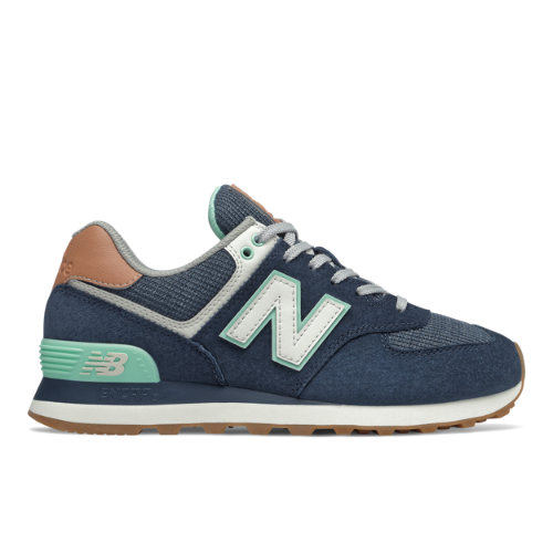New Balance 574 Women's Running Classics Shoes - Navy (WL574BCM)
