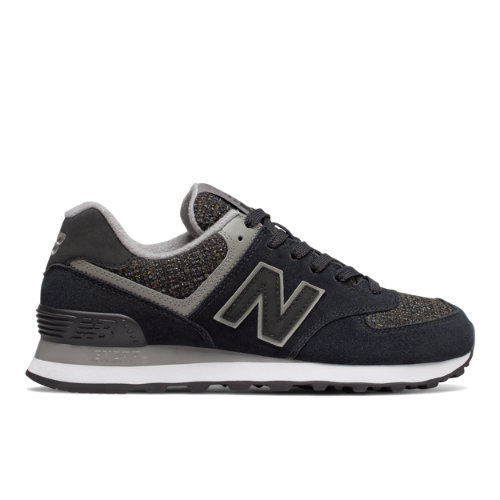 New Balance 574 Winter Nights Women's 574 Sneakers Shoes - Black / Grey (WL574DCV)