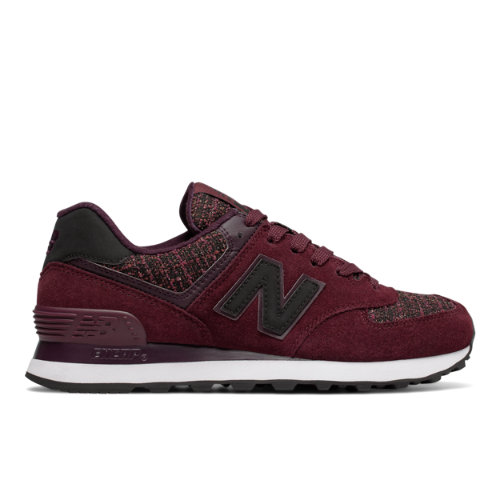 New Balance 574 Winter Nights Women's 574 Sneakers Shoes - Dark Red / Black (WL574DCX)
