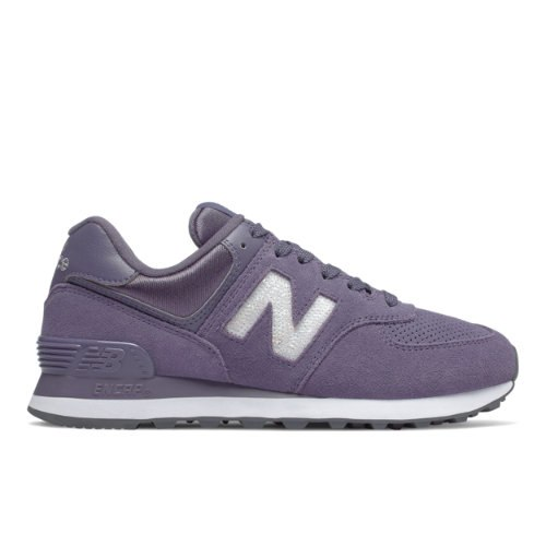 New Balance 574 Holiday Sparkler Women's Shoes - Purple (WL574FHB)