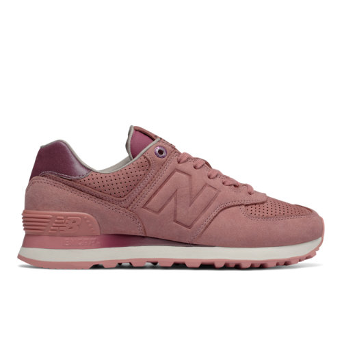 New Balance 574 NB Grey Women's 574 Shoes - Dusted Peach (WL574GRY)