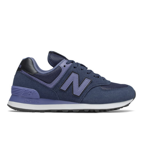 New Balance 574 Women's Running Classics Shoes - Navy (WL574LBG)