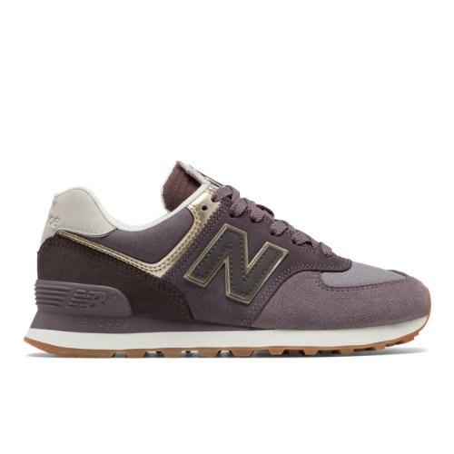 New Balance 574 Metallic Patch Women's Shoes - Purple (WL574MLB)