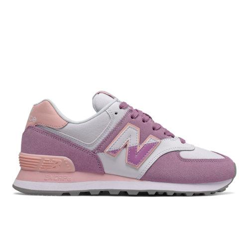 New Balance 574 Split Sail Women's Running Classics Shoes - Purple (WL574NHC)