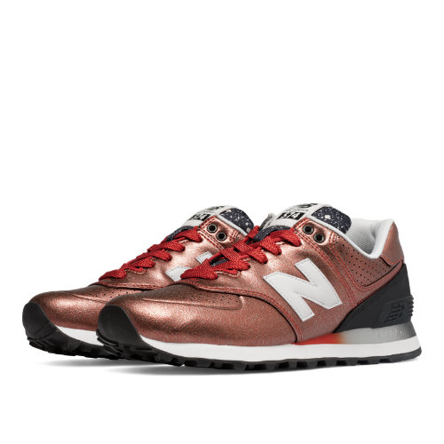 New Balance 574 Gradient Women's 574 Shoes - Copper / Black (WL574RAB)