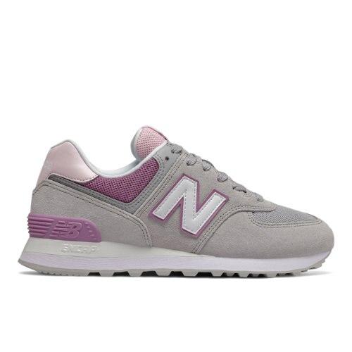 New Balance 574 Women's Lifestyle Shoes - Grey / Purple (WL574SAL)