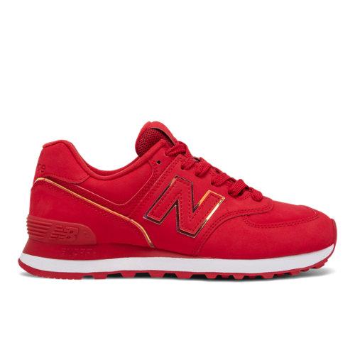 New Balance 574 Women's Running Classics Shoes - Red (WL574SC2)